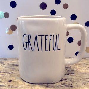 Rae Dunn GRATEFUL ceramic mug